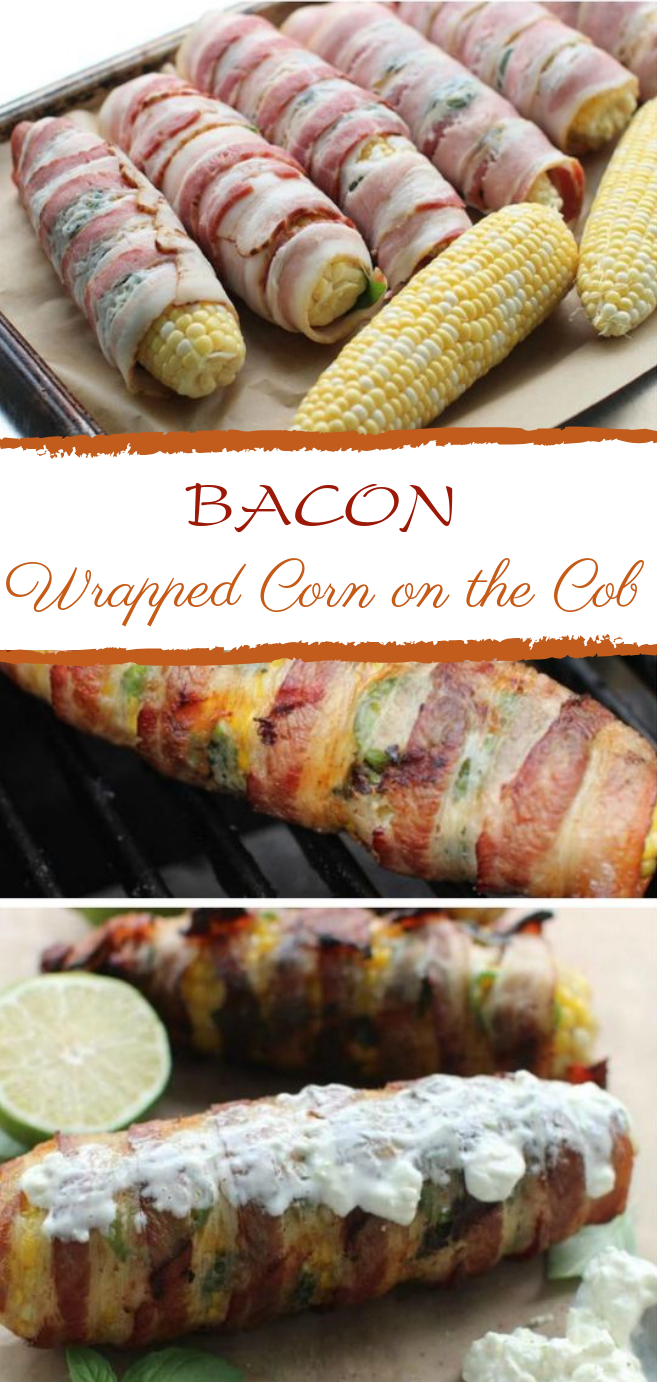 Bacon-Wrapped Corn on the Cob #grill #glutenfree images