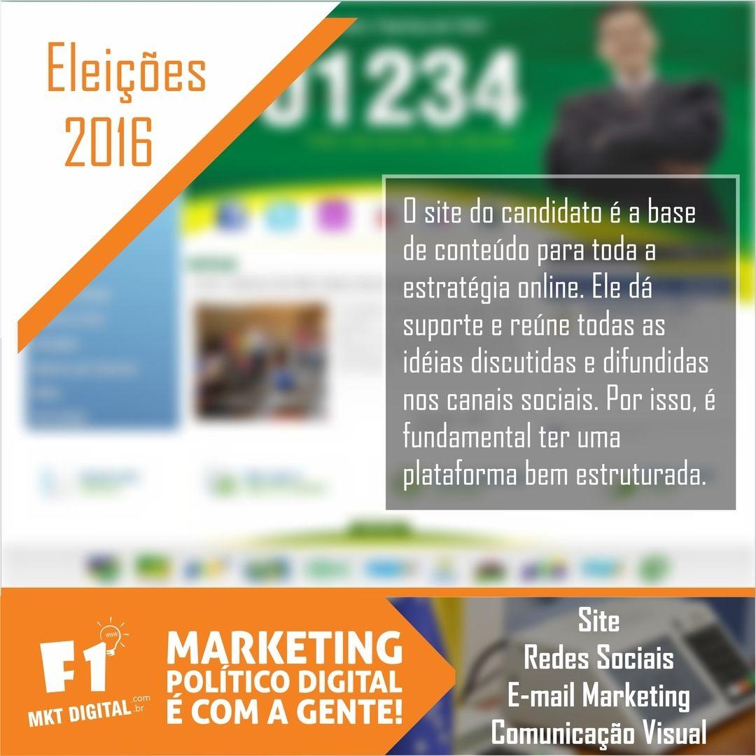 Sr. Candidato, entre em contato conosco e tenha um site efetivo, bem estruturado, mantendo ele atualizado para cria um bom relacionamento com o seu eleitor.    (37) 3016-3133  atendimento@f1mktdigital.com.br  Rua Pernambuco, 2301, Ipiranga - Divinópolis/MG
