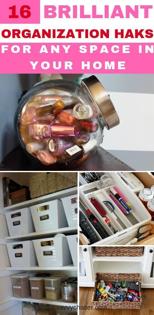 16 Organization Hacks For Every Space in your Home is part of Organization Hacks Kids - Transform your space with these organization hacks  Take over your clutter and and organize every space in your home with these ideas