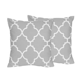 jovi home fern jacquard grey decorative pillow cover