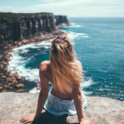 Afbeelding via We Heart It #beach #girl #hair #summer