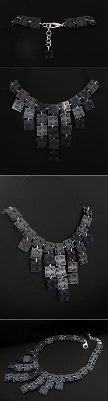 djoul*: Collier Tenue de soirée noir /LEGO
