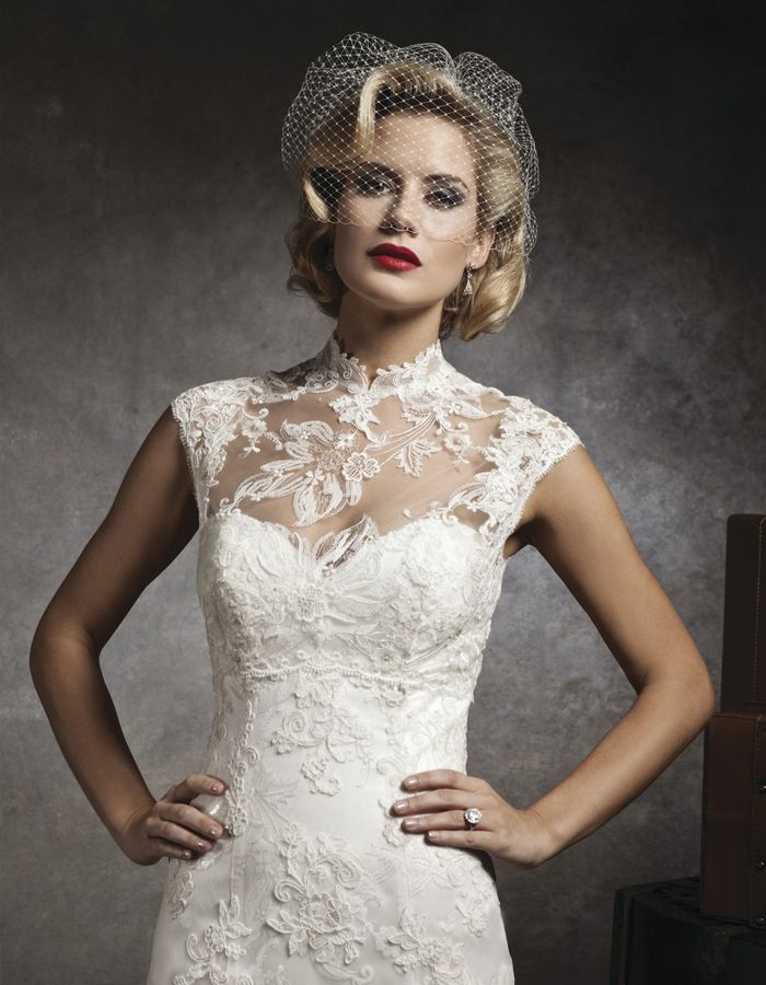 This Illusion Lace Neckline Is Actually A Separate Jacket So You Can Mix And Match Style 8641 Wedding Dress Bride