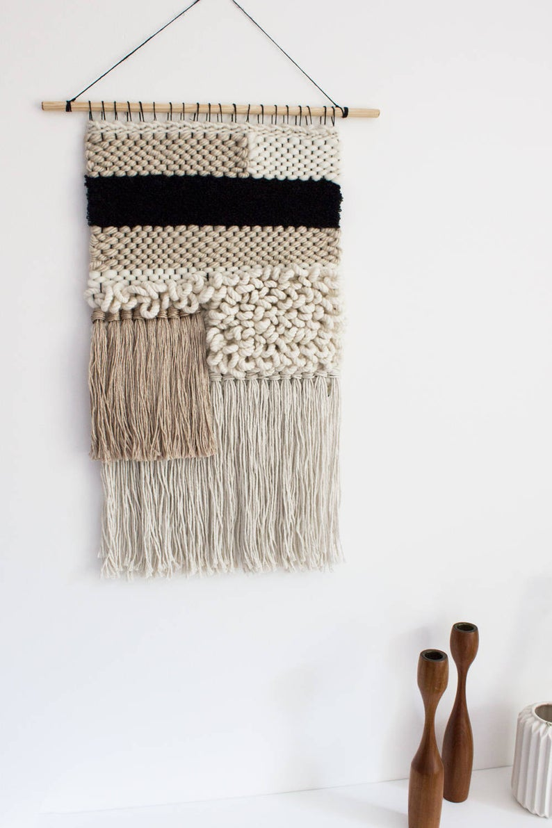 Modern Tapestry Weaving Woven Wall Hanging Weaving Woven Wall Art Tapestry Wall Hanging Wool Wall Hanging Textile Fiber Art Modern Tapestries Tapestry Weaving Woven Wall Art