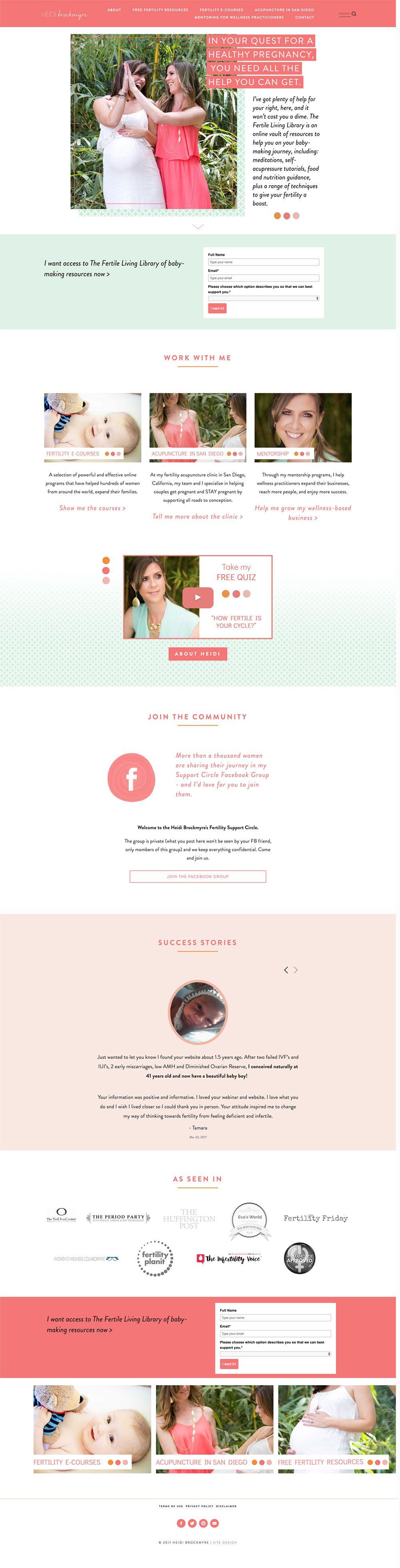 Heidi Brockmyre Website Design Blog Design Inspiration Squarespace Web Design Squarespace Design