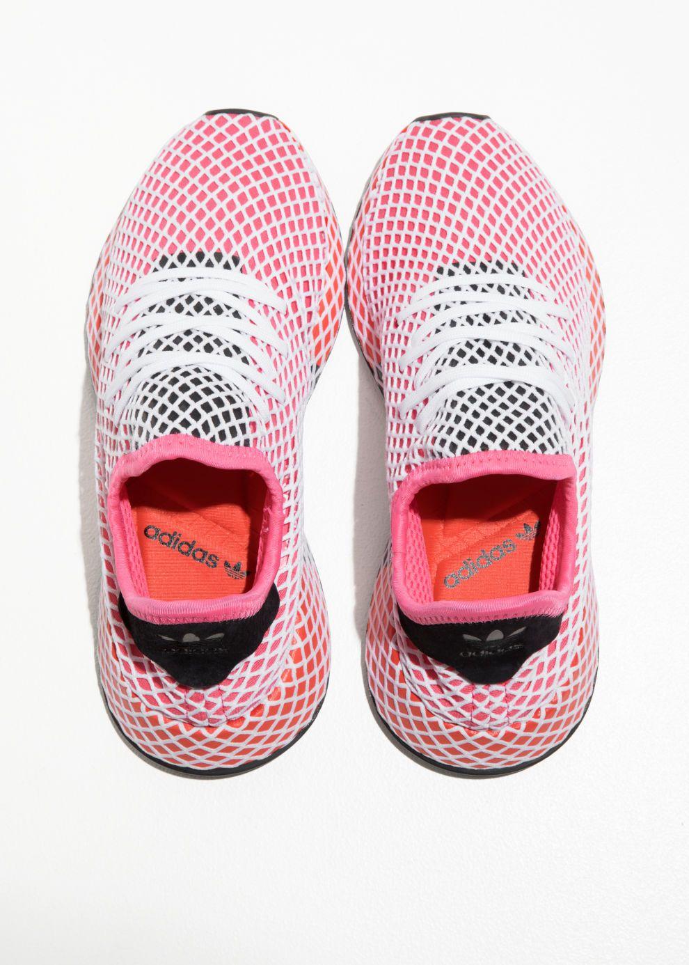 save off f4d0c b4706 Back image of Stories adidas deerupt runner in pink