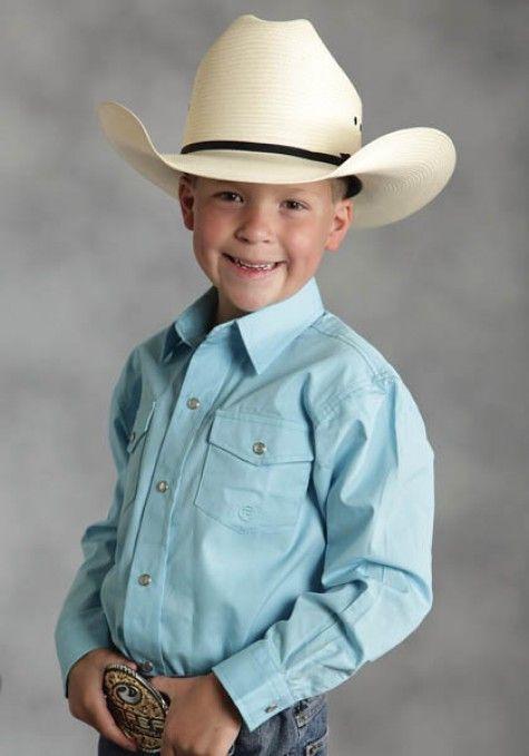 def426d39 Roper® Boys Turquoise Snap LS Western Shirt | Kelly | Western shirts ...