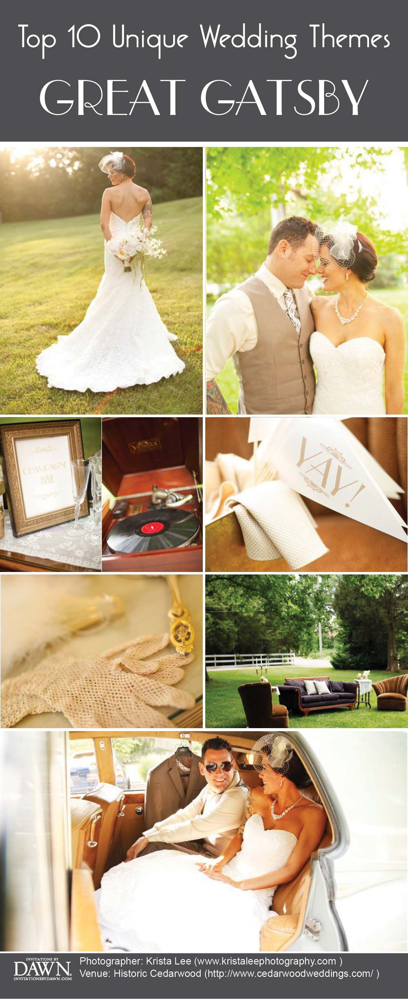 Top 10 Wedding Themes Roaring 20s Inspired Pinterest Wedding