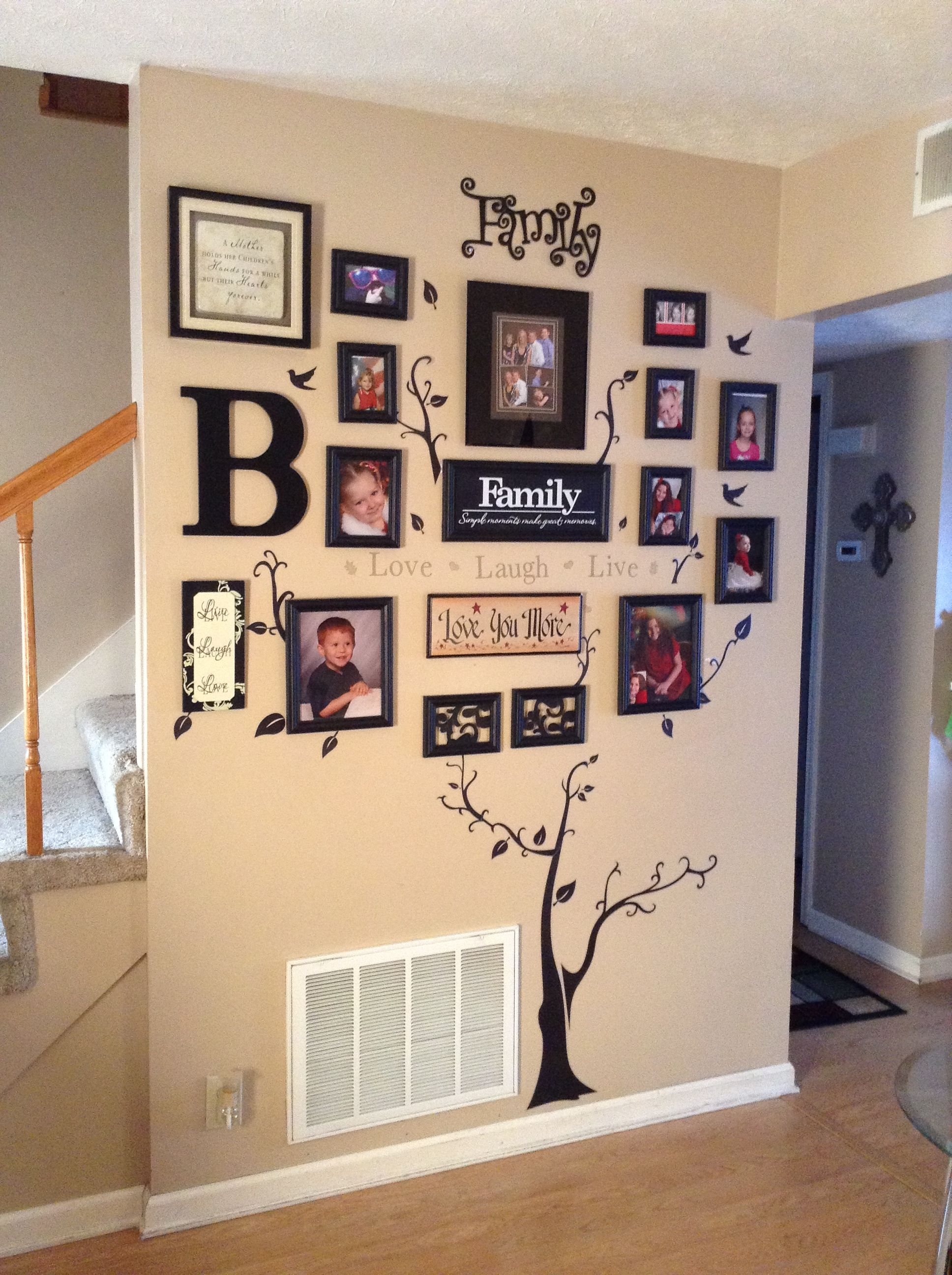My Family Tree Wall Decor Nicely Done But Wouldn T Make Trunk Larger Or Frames Letter Smaller