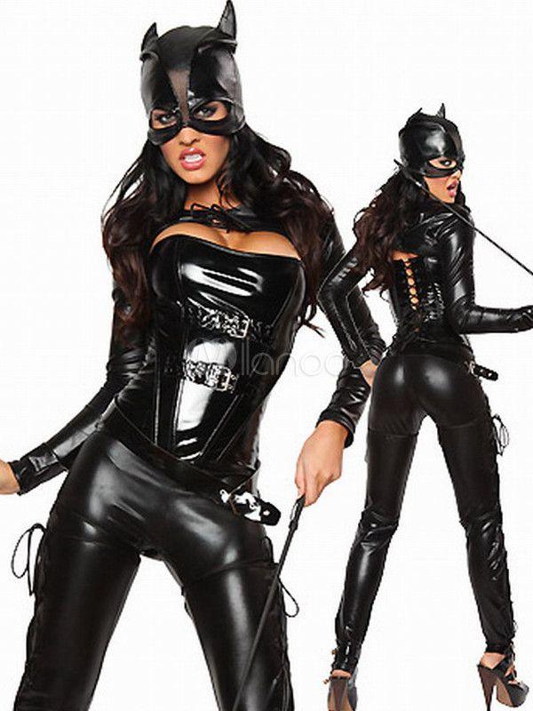5c05548682 Black Faux Leather Catwoman Costume - Milanoo.com SOOOOOO HOT!!!! lol