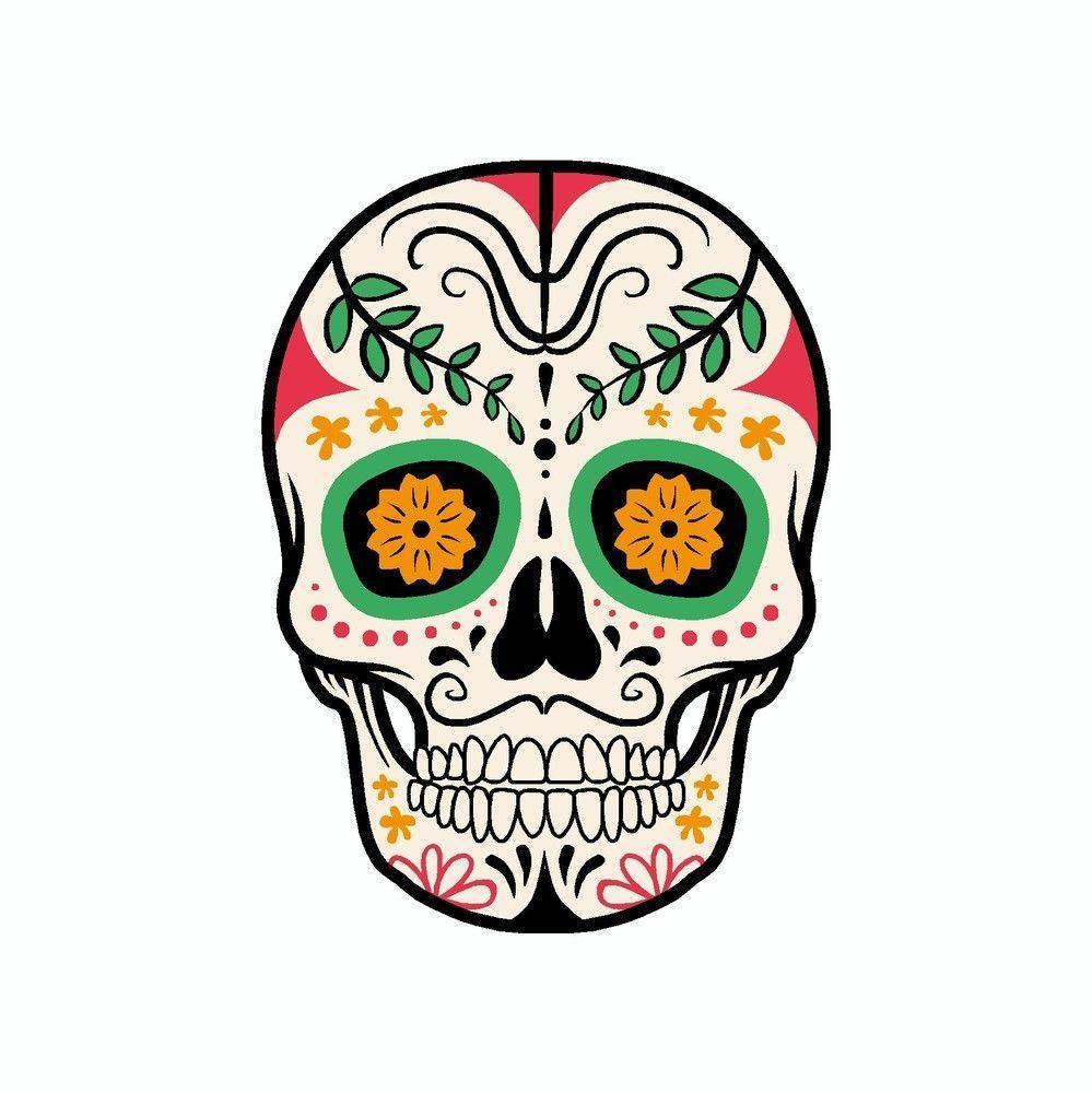 Day Of The Dead Skull Vinyl Car Decal Skull Day Of The Dead Skull Sugar Skull Art