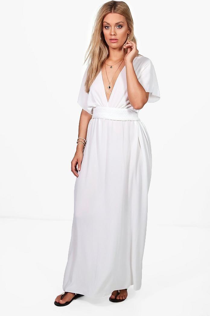 2c3bef2461c Plus Tiffany Plunge Beach Maxi Dress