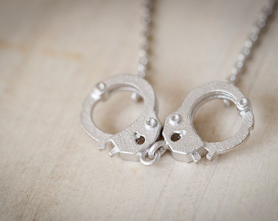 mini handcuffs necklace - fifty shades of grey inspired jewelry