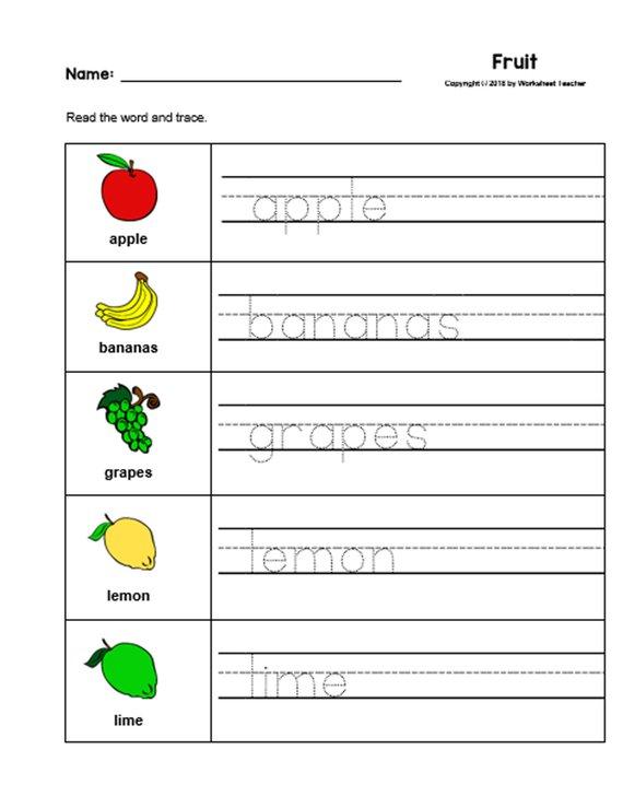 Fruits Worksheets For Kindergarten Pdf