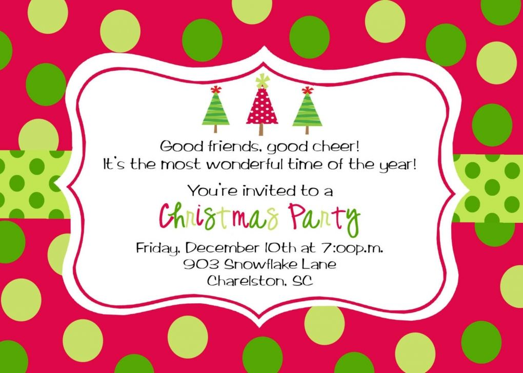 Free Templates Christmas Invitations Christmas Party
