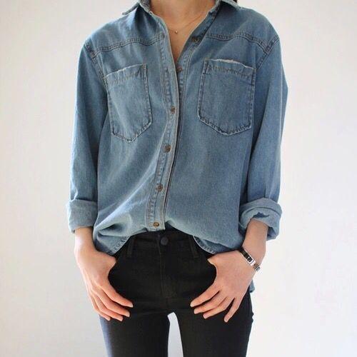 zwarte denim blouse