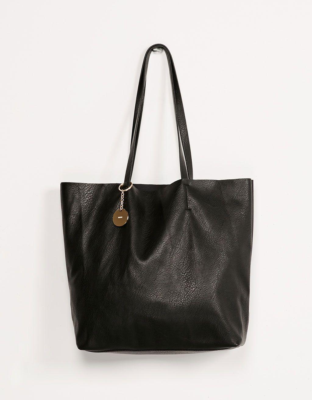 c642c1edc4 Metallic pendant shopper bag - Bags - Bershka Israel