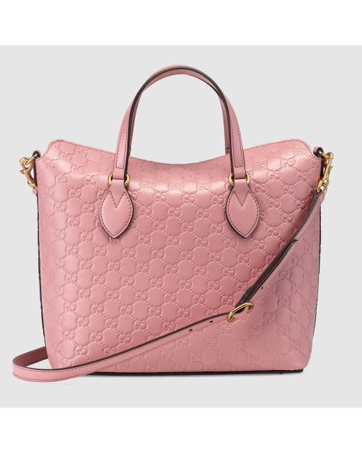449fc67c5795 Women's Pink Signature Leather Top Handle Bag | Arm Candy | Bags ...