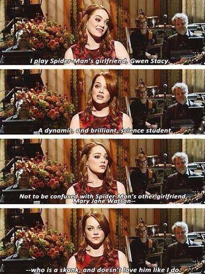 Emma stone is so cute
