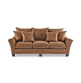 HM Richards Franklin Espresso Microfiber Sofa