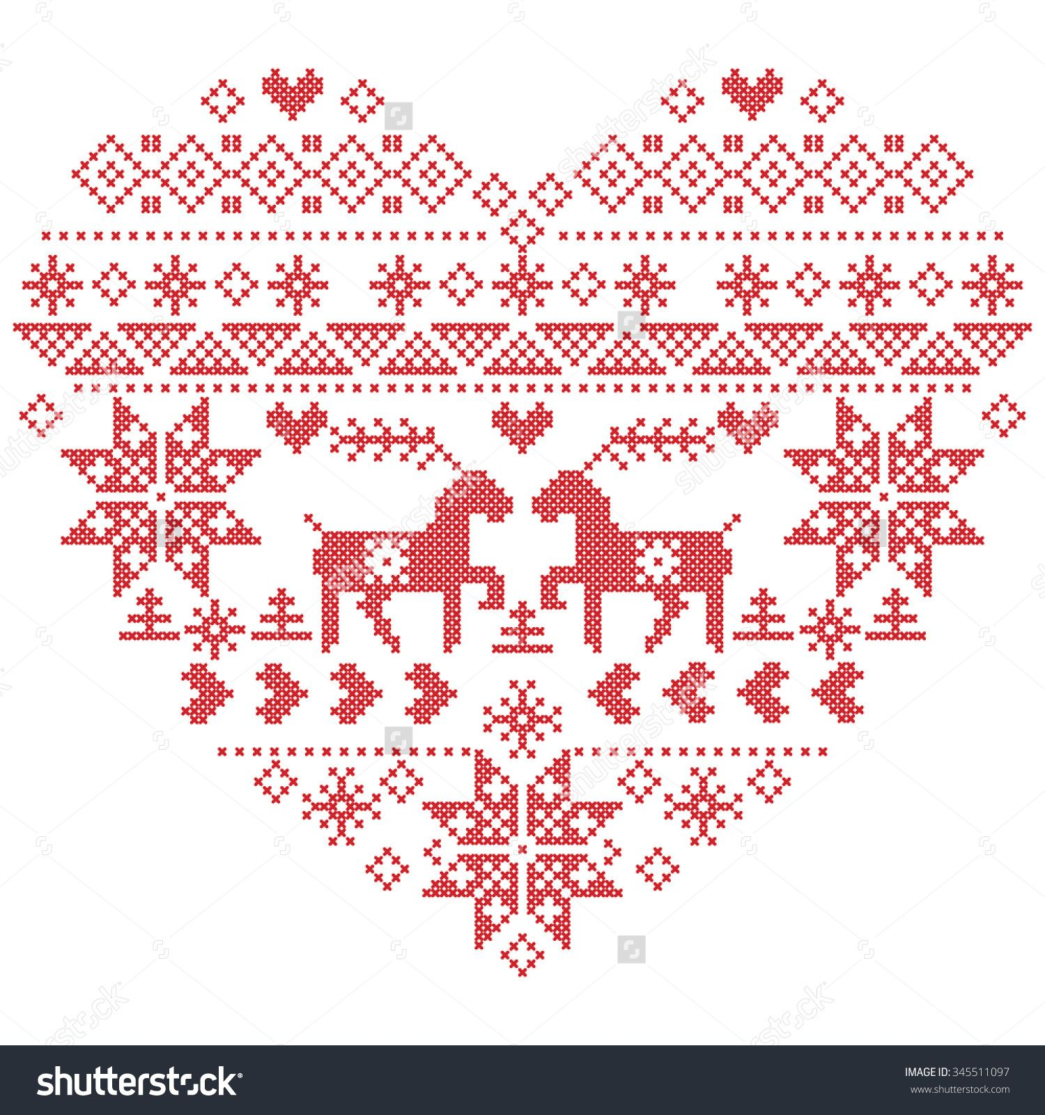 Scandinavian nordic winter stitch knitting christmas pattern in scandinavian nordic winter stitch knitting christmas pattern in in heart shape shape including snowflakes bankloansurffo Images