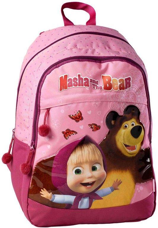 Masha and the Bear 3D backpack masha and the bear backpack Girls Kids Backpack