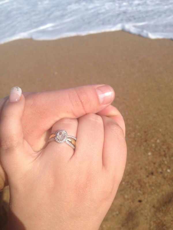 beautiful vintage oval engage ring