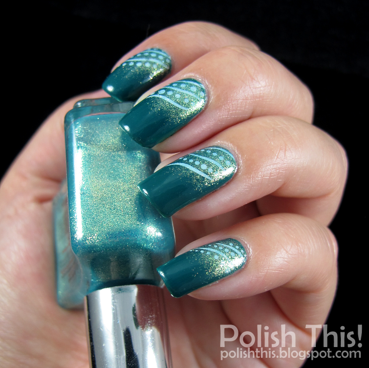 Polish This Opi Amazon Amazoff With El Coraz 243 N Magic Sparkling Sea Is And Water Decals