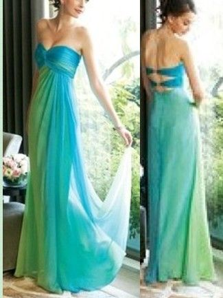 8de41390d8 blue and green bridesmaid dress. I kind of like this but maybe a bit  differant kind of style to it