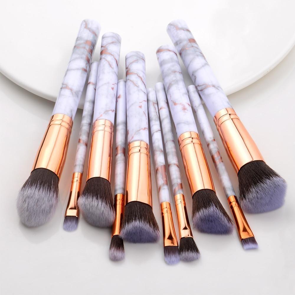 Photo of Multifunctional Makeup Brush – 10Pcs Gold / United States