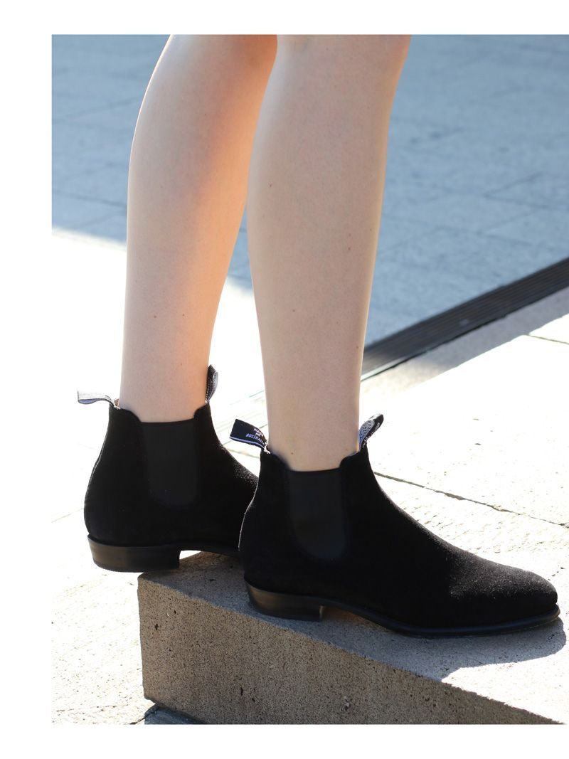 3ff82fb35e9 SYDNEY FASHION BLOG RM Williams black suede Adelaide boots in Sydney ...