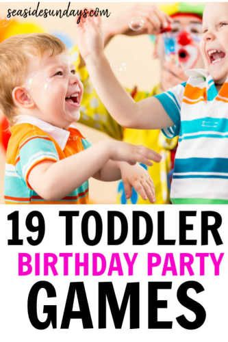 19 Birthday Party Activities For 2 Year Olds Toddler