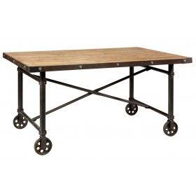 Table Sur Roulettes Comptoir Famille Mobilier De Salon Table A Manger En Bois Table Roulette