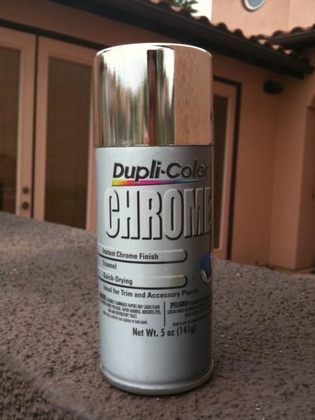 chrome spray paint tutorial diy chrome spray paint. Black Bedroom Furniture Sets. Home Design Ideas