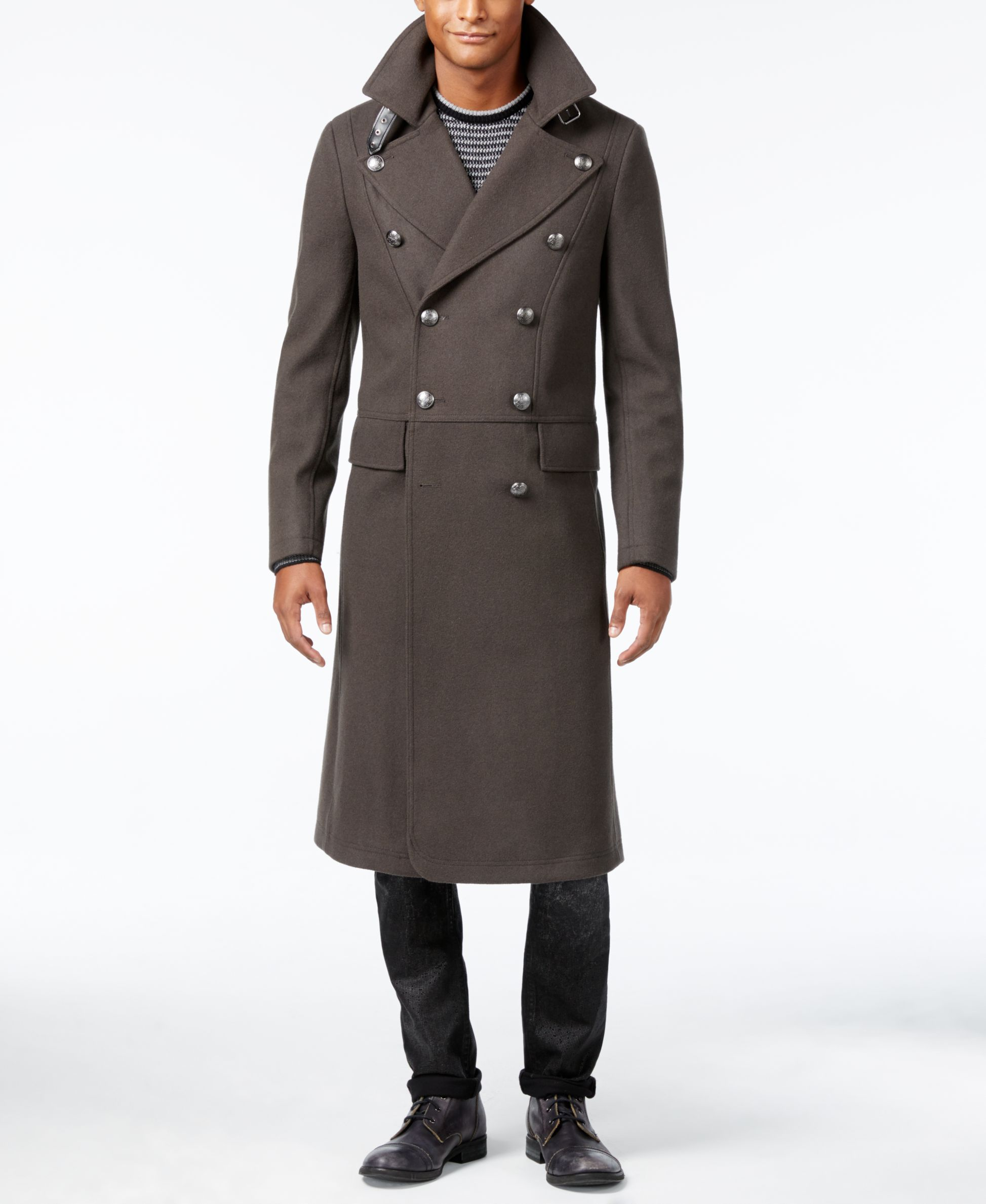 Guess Men S Tomlin Melange Double Breasted Overcoat Double Breasted Overcoat Guess Men Overcoats [ 2378 x 1947 Pixel ]