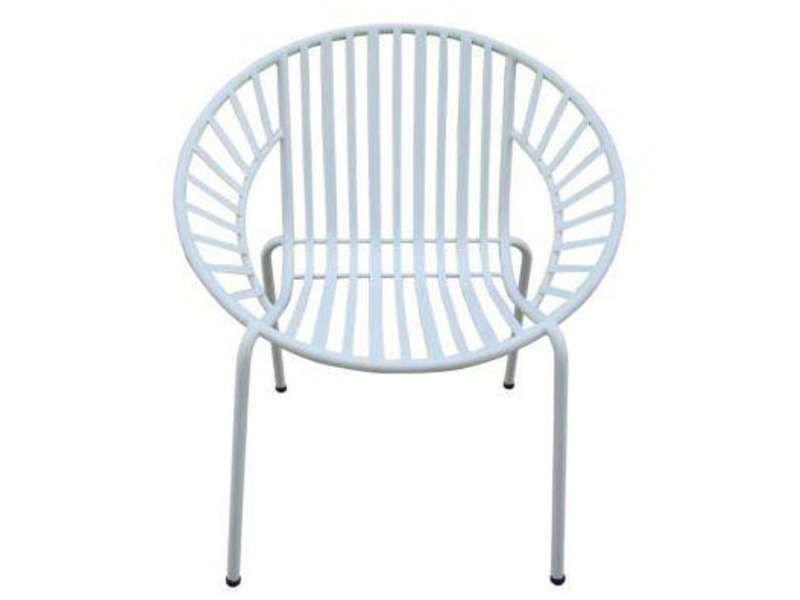Fauteuil de jardin MADURA coloris blanc - Vente de Chaise de ...