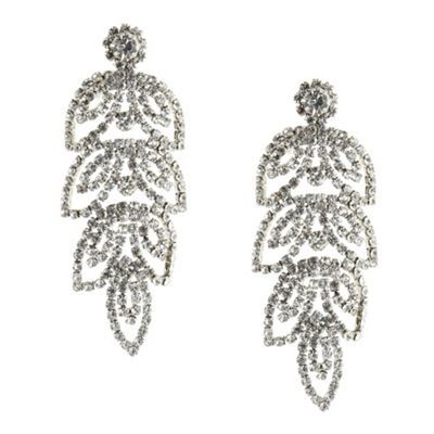 No. 1 Jenny Packham Designer silver leaf chandelier earrings- at ...