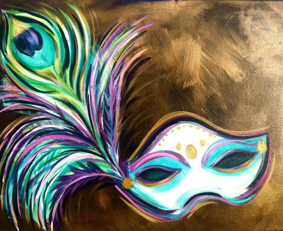 Mardi Gras mask from Uptown Art   ART   Pinterest