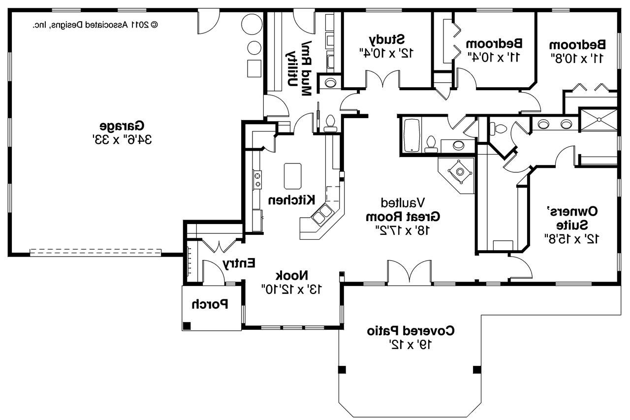 Ranch House Plan Elk Lake 30 849 Floor Plan Ranch House Floor Plans Open Floor House Plans Ranch Style House Plans
