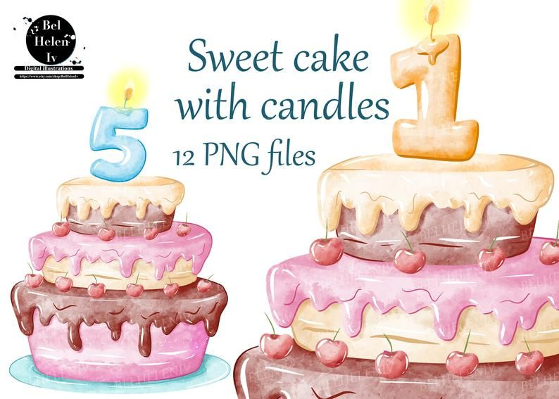 Birthday Cake Clipart Christmas - Happy Birthday Cake Png - 640x480 PNG  Download - PNGkit