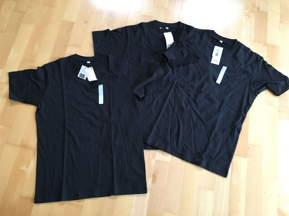 8e30a5dec Mens JOB LOT 3 x UNIQLO DRY COOLING CREw NECK Black Cotton T Shirt S C38  NEW #fashion #clothing #shoes #accessories #mensclothing #shirts (ebay link)