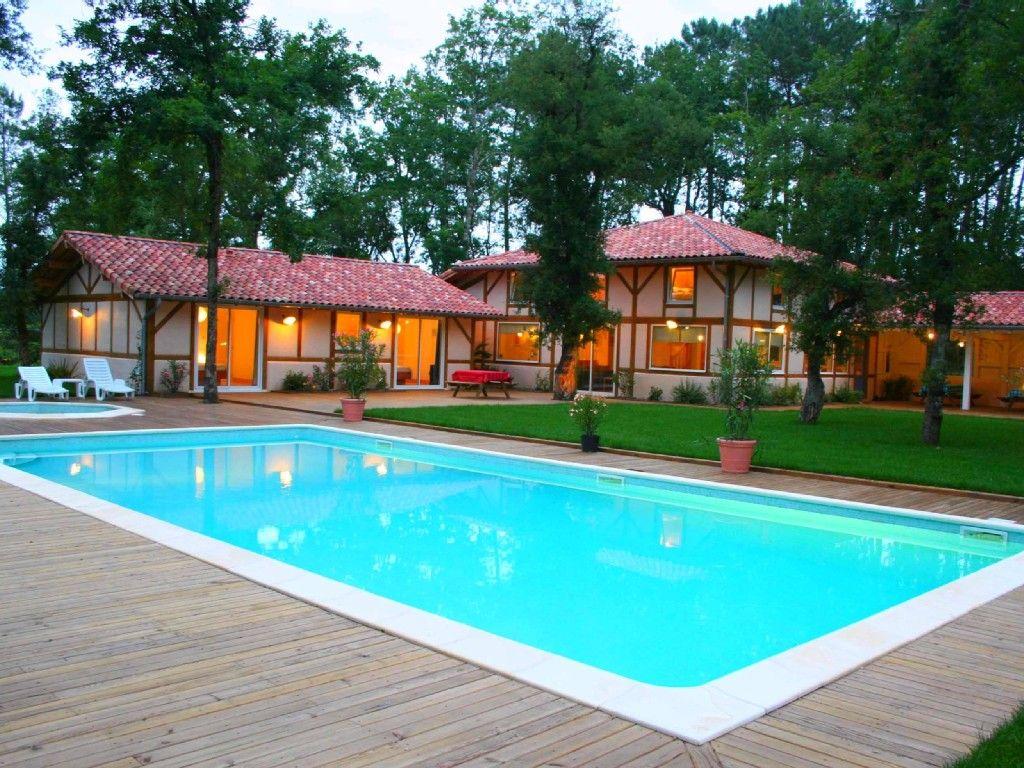 abritel location azur spacieuse villa pour 24 personnes avec piscine chauffee location maison landes cte dargent