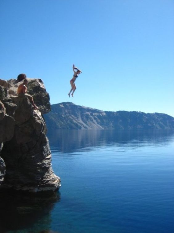 Jumping In Crater Lake National Park Did You Do Anything Fun - 10 cool landmarks in crater lake national park