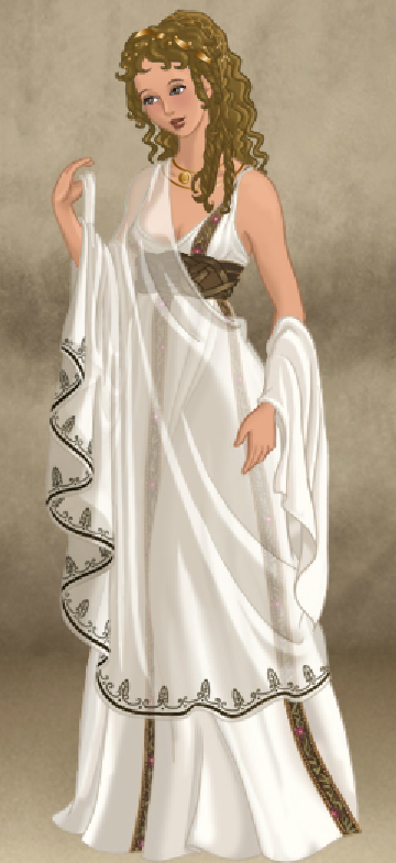 Roman Lady Doll Divine Greek Fashion Grecian Dress Fashion