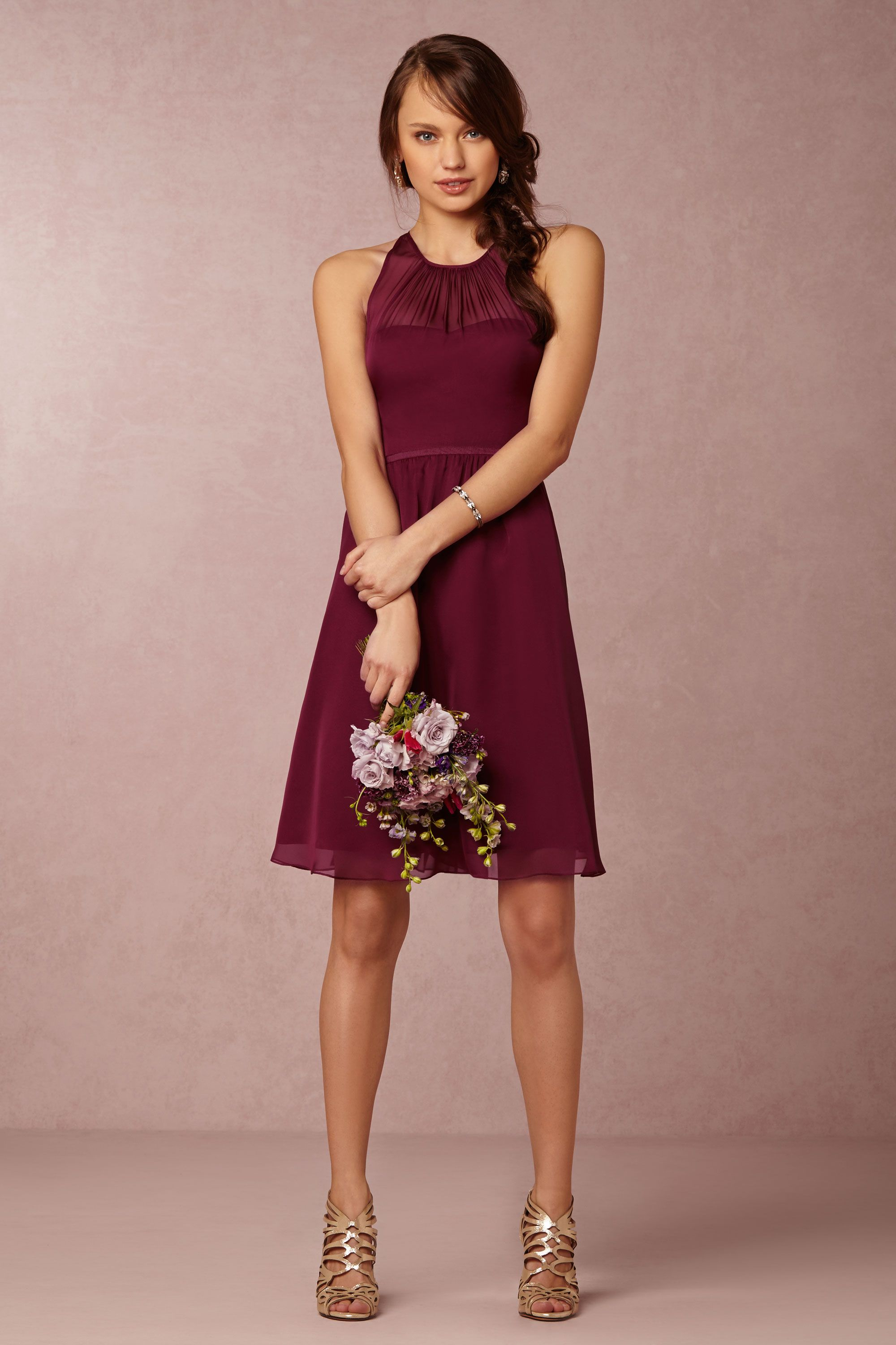 Georgina bridesmaids dress in black cherry from bhldn for Wine colored wedding dresses