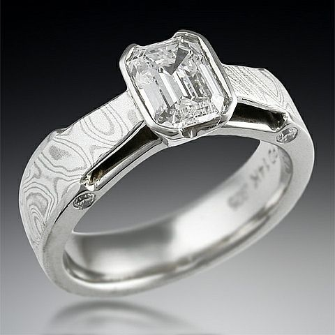 mokume bridge engagement ring by krikawa jewelry designs Fashion