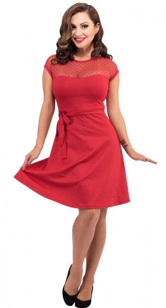 A Blame Betty favourite has been upgraded with the Hearts Only Madeline Dress in Red.