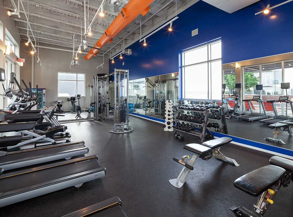 State Of The Art Fitness Center At AMLI On Luxury Downtown Austin, TX  Apartments.