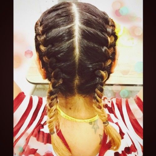 Two Sided Braid Punjabi Hairstyles Punjabi Hairstyles Hair Styles Indian Hairstyles