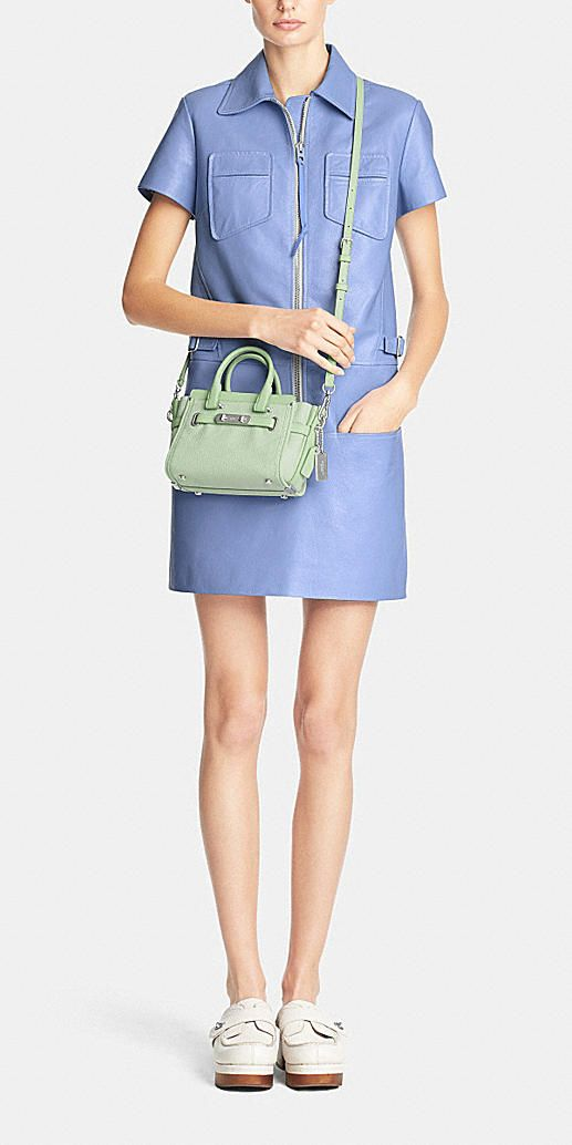 3b39377e81 Coach bag swagger 20 carryall in pebble leather in periwinkle It s like   350 but maybe for next big occasion. I think I would like this size bag  for going ...